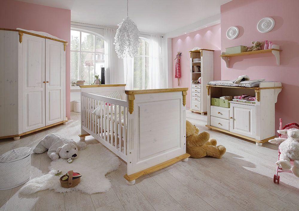 Babyzimmer möbel natur  Pure Natur Babyzimmer Kiefer massiv weiß. | Möbel Letz - Ihr ...