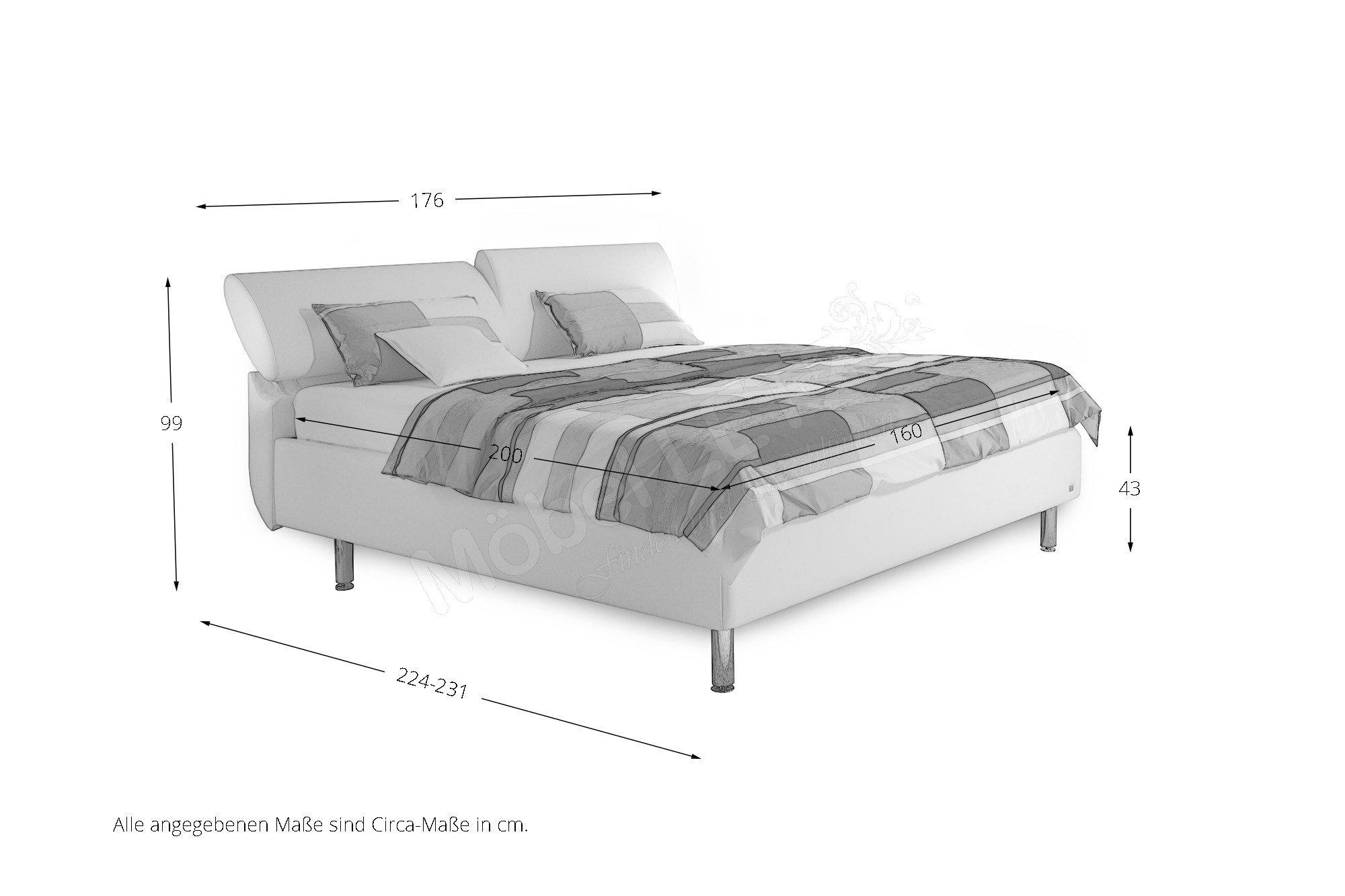 ruf polsterbett modell casa im eleganten weiß | möbel letz - ihr, Hause deko