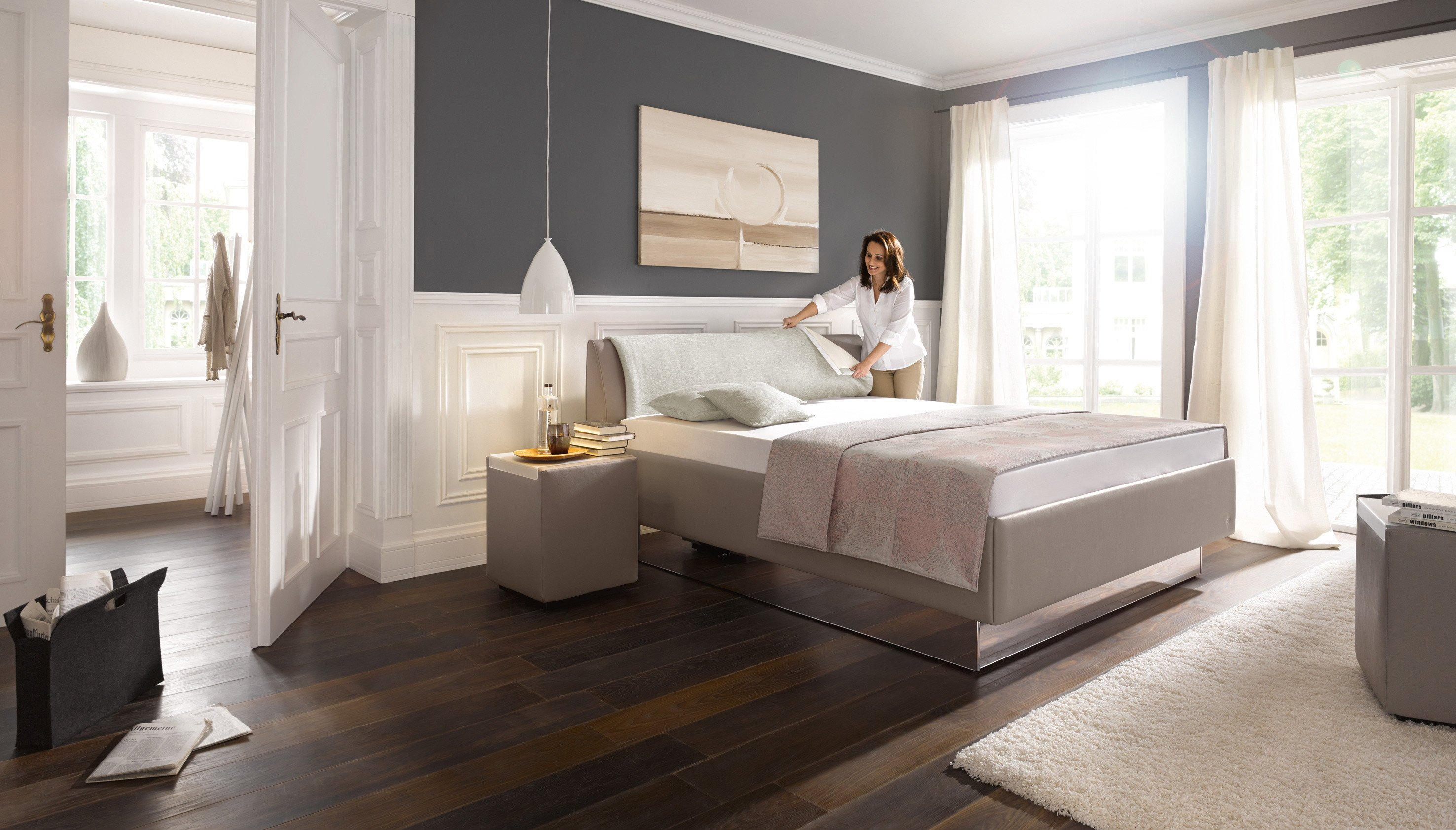 polsterbett composium von ruf in taupe m bel letz ihr online shop. Black Bedroom Furniture Sets. Home Design Ideas