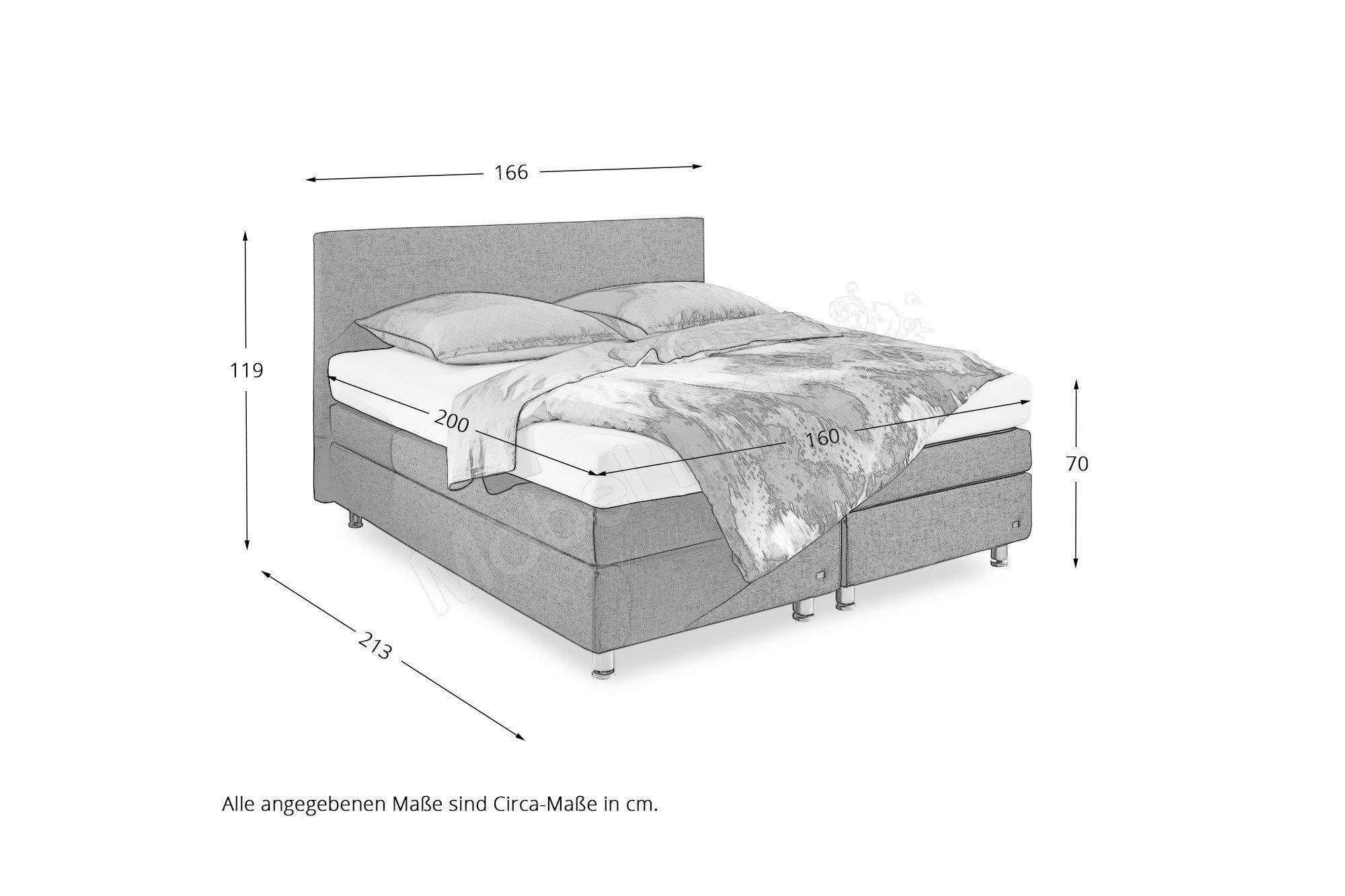 Boxspringbett RUF Betten Modell Verena. Möbel Letz - Ihr Online-Shop