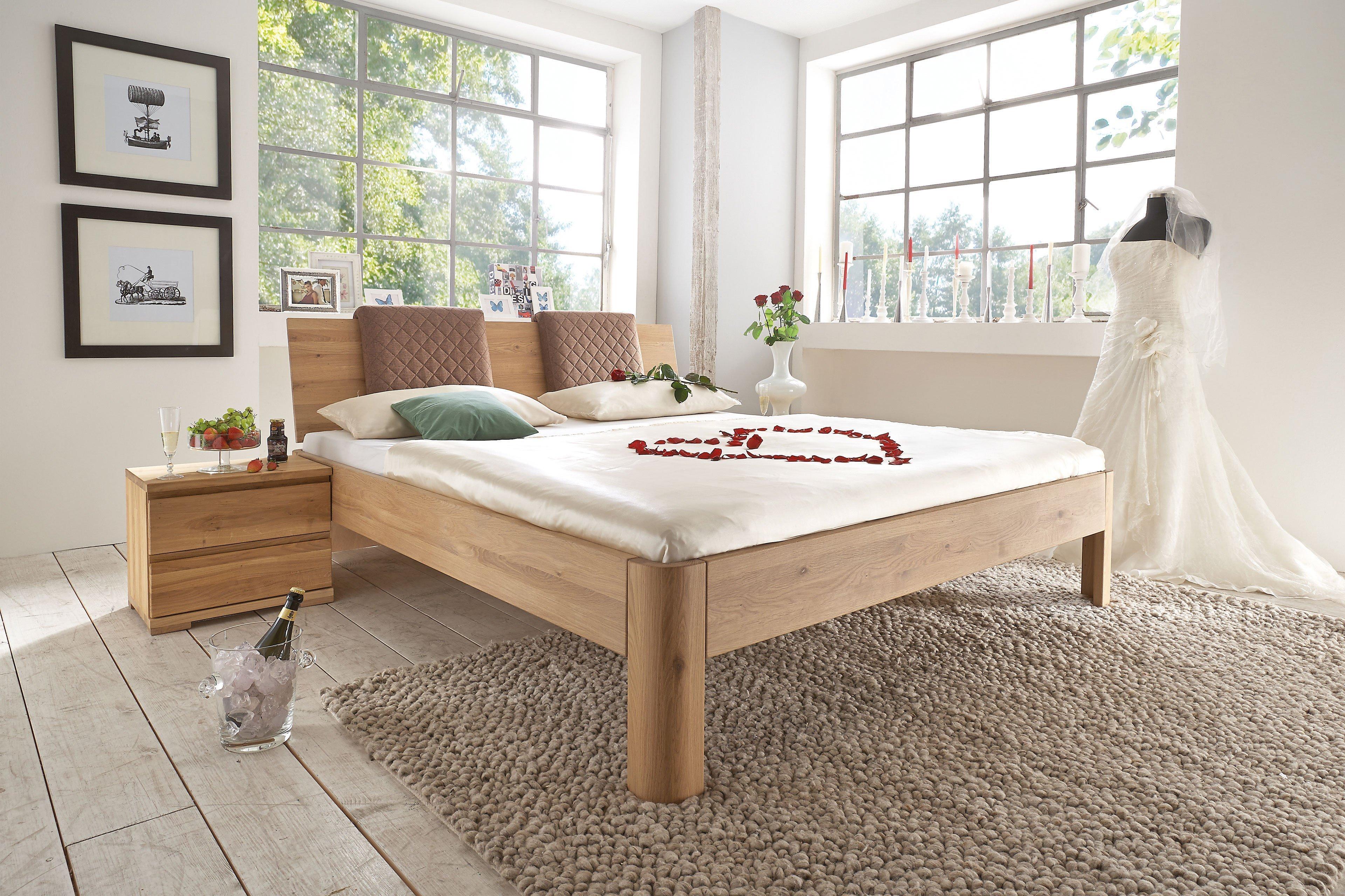 Pure Natur Bett Wildeiche bianco | Möbel Letz - Ihr Online-Shop