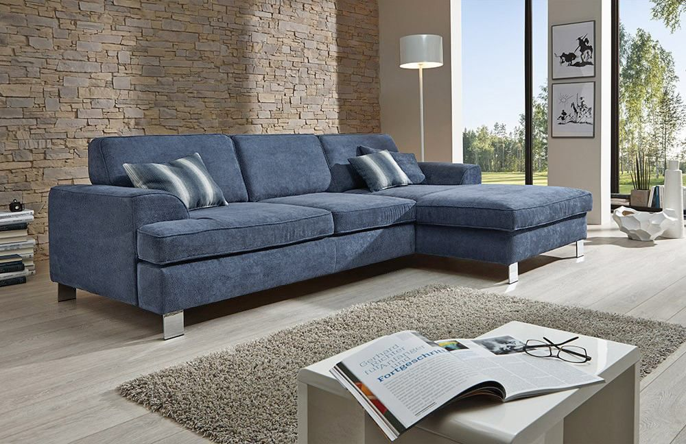 ecksofa blau excellent vienna von fs polstermbel ecksofa. Black Bedroom Furniture Sets. Home Design Ideas