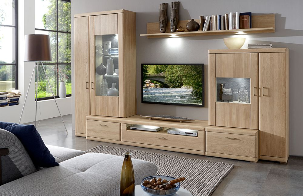ideal m bel wohnwand bruel 41 eiche bianco m bel letz ihr online shop. Black Bedroom Furniture Sets. Home Design Ideas