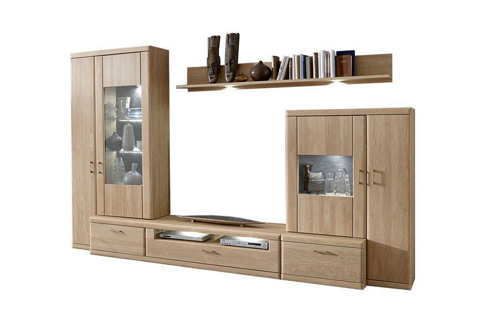 ideal m bel wohnwand bruel 41 eiche bianco m bel letz. Black Bedroom Furniture Sets. Home Design Ideas