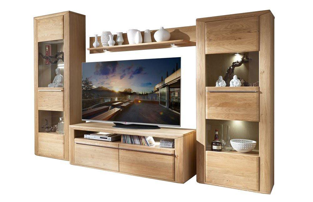 IDEAL Möbel Wohnwand Leeds 17 Asteiche | Möbel Letz - Ihr Online-Shop