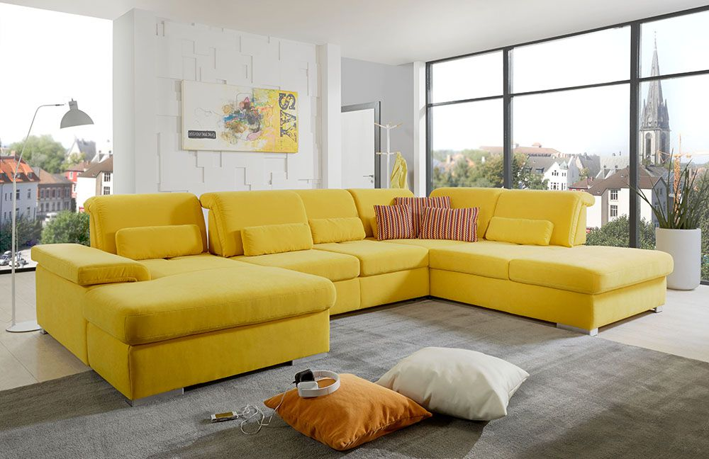 sofa gelb leder great corner bench corner sofa yellow leather functional brown carpet living. Black Bedroom Furniture Sets. Home Design Ideas