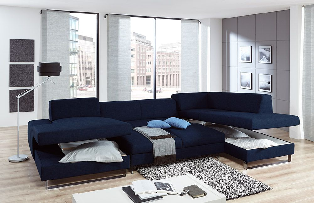 poco wohnlandschaft melbourne in blau m bel letz ihr online shop. Black Bedroom Furniture Sets. Home Design Ideas