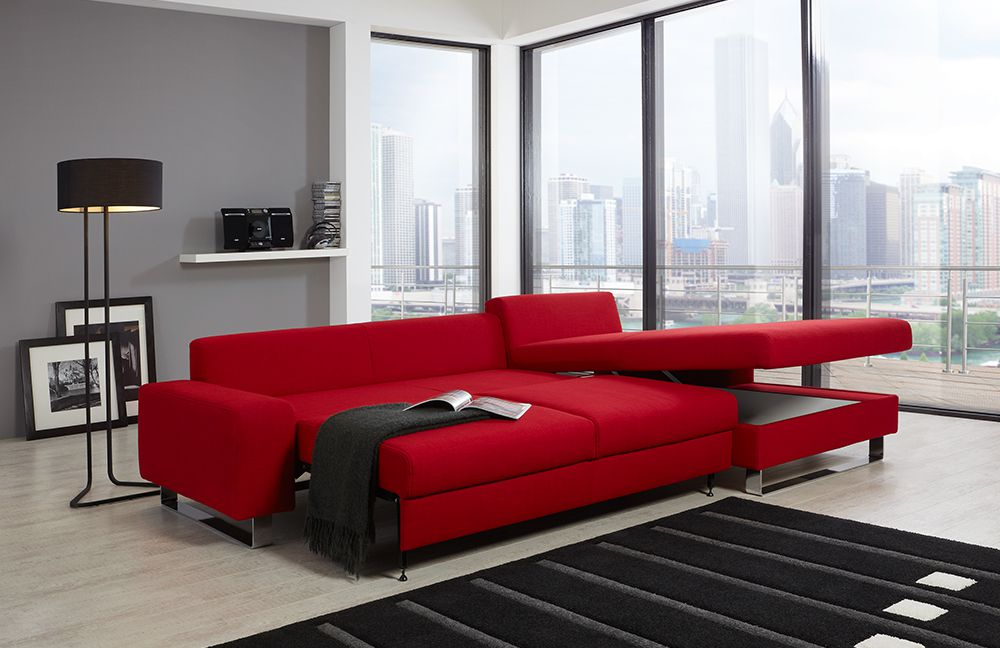 poco eckcouch melbourne in rot m bel letz ihr online shop. Black Bedroom Furniture Sets. Home Design Ideas