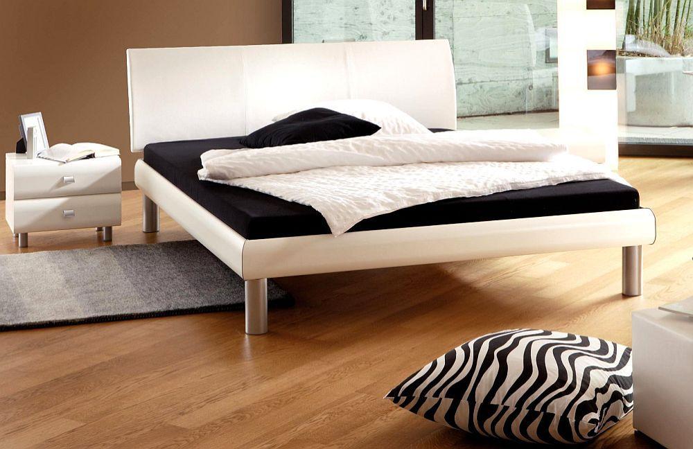 Soft-Line von Hasena - Bett Stomp mit Polsterkopfteil weiß. Möbel ...