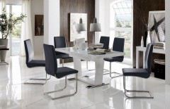 stuhl lyon allegro rafi r1 leder schwarz eiche sand. Black Bedroom Furniture Sets. Home Design Ideas