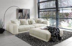 Natascha aus der Kollektion Letz - Sofa beige-weiß