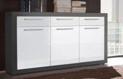 Kolibri von HBZ-Meble - Sideboard grau/ weiß