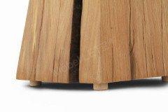 Klotz-Hocker von Sprenger Möbel - Beistelltisch in Sumpfeiche