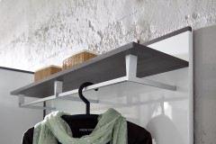 Reno von Innostyle - Garderobe in Weiß Hochglanz und Grau