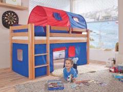 Etagenbett Relita Beni : Relita etagenbett finley weiß lackiert kissen blau