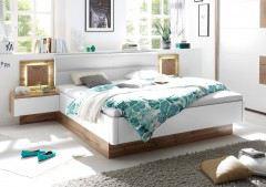 Capri von POL Power - Schlafzimmer weiß Wildeiche Nachbildung