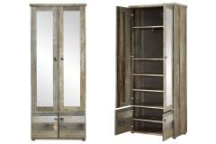 Bonanza von Innostyle - Garderobenschrank mit Spiegel