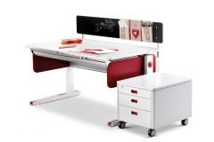 Champion von moll - Schreibtisch weiß rot Variante right up