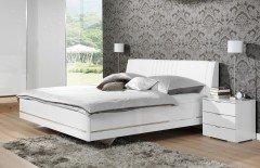 Glamour Von Wellemöbel   Bett Mit Swarovski Elements   Weiß
