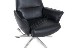 Alberte von BD-Möbel - TV-Sessel mit Hocker black