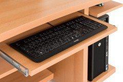 Büromöbel aus der Kollektion Letz - Computertisch Buche