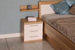 Comfort-V von Disselkamp - Schlafzimmer Kernbuche Bett 180x190