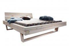 BE-0280 von GK Möbelvertrieb - Balkenbett weiß 180 x 200 cm