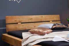 BE-0280 von GK Möbelvertrieb - Balkenbett eichefarbig 180 x 200