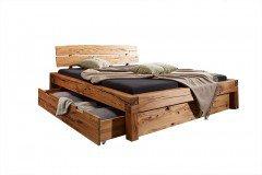 BE-0268 von GK Möbelvertrieb - Bett Wildbuche mit Bettkästen