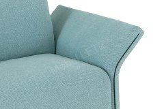 Modena von Erpo Polstermöbel - Sessel mit Hocker aqua