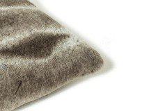 Chinchilla von Deckenkunst - Kuscheldecke grau-weiß
