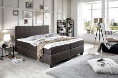 Basic von Fey & Co - Boxspringbett BK2 anthrazit