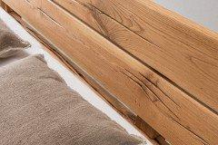 Imke von Pure Natur - Balkenbett Wildeiche geölt 180 x 200 cm
