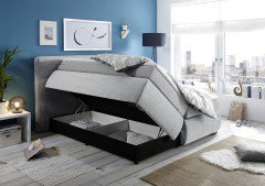 Escora von Black Red White - Boxspringbett 180 silver