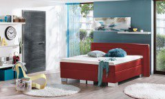 Kingsline von Fey & Co - Boxspringbett KTG red