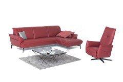 himolla polsterm bel 4512 ledergarnitur in rot m bel. Black Bedroom Furniture Sets. Home Design Ideas
