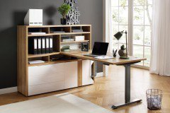 eDJUST von Maja - Schreibtisch höhenverstellbar mit Minioffice