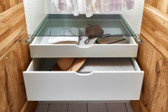 Move in von HKC - Schrank Wildeiche - Glas weiß