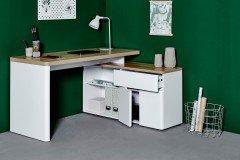 Cuuba Libre 150 von Jahnke - Schreibtisch mit Sideboard