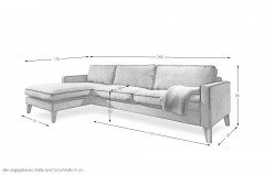 Elian von DFM - Ecksofa links brandy