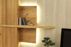 V-Organo Living von Voglauer - Wohnwand 304 mit Beleuchtung