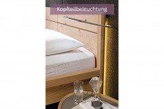 V-Vaganto von Voglauer - Schlafzimmer Wildeiche & Strukturglas