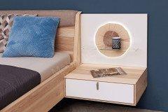 Meta von Thielemeyer - Schlafzimmer Wildesche mit Beleuchtung