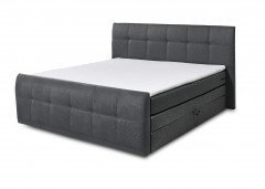 Sacramento von Black Red White - Boxspringbett 180 anthrazit