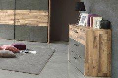 Ricciano von Forte - Schlafmöbel-Set: Schrank, Bett & Nakos