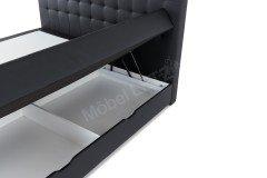Lenno von Meise Möbel - Boxspringbett schwarz mit Bettkasten