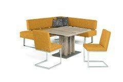 7917 von K+W Formidable Home Collection - Eckbankgruppe senfgelb
