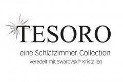 Tesoro von Staud - Nachtschrank weiß mit Swarovski® Kristallen