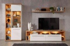 trendteam odino sideboard asteiche hochglanz wei m bel. Black Bedroom Furniture Sets. Home Design Ideas
