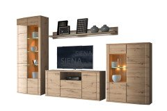 Siena von RMI Möbel - Wohnwand 1830 Alteiche